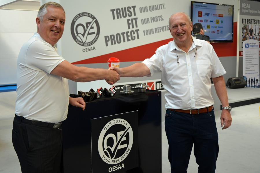 Richard Armstrong and Nigel Morgan pictured on the OESSA stand