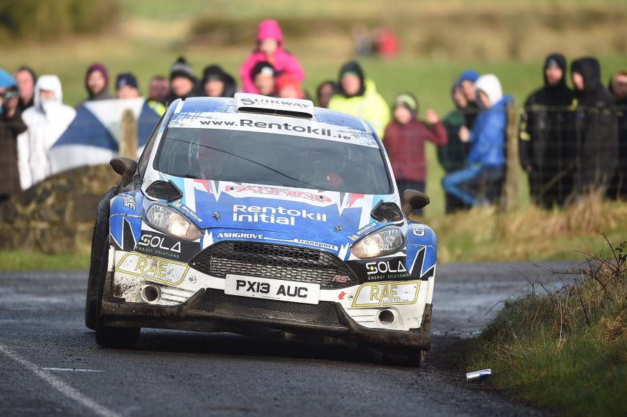 Craig Breen & Paul Nagle on their way to winning the Galway International Rally