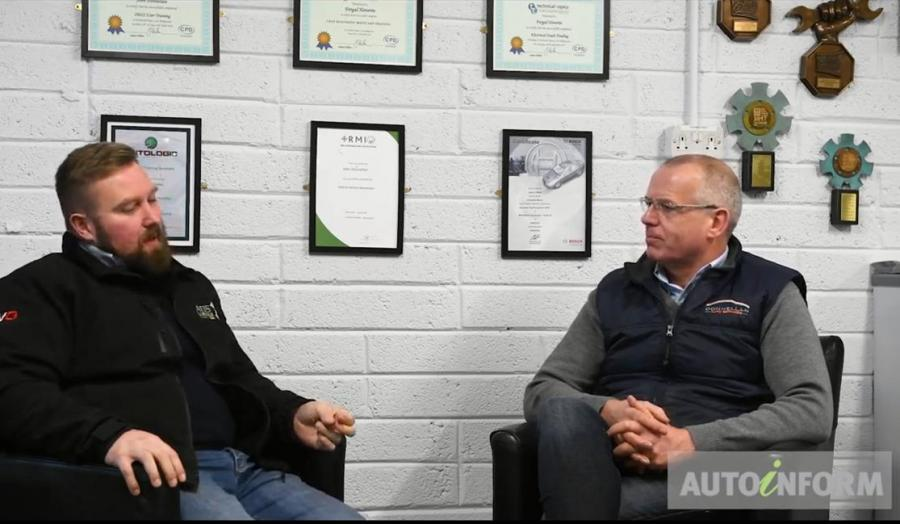 David Massey of ADS Automotive, interviewing John Donnellan for Autoinform TV see video below