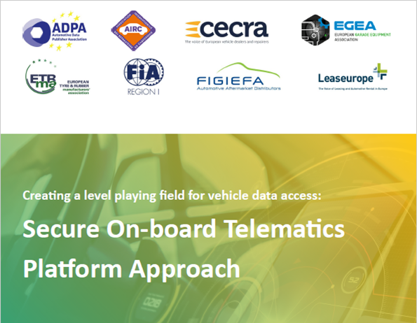 A major coalition, representing automotive dealers, Aftermarket and Consumers, is calling on the EU to take on board its proposal for a Secure On-board Telematics Platform (S-OTP) when legislating on access to in-vehicle data